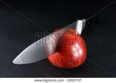 Perfect Cut - Apple And Knife