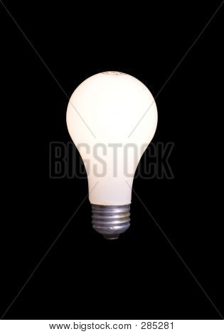 Light Bulb Isolated On Black With Clipping Path