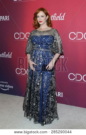 LOS ANGELES - FEB 19:  Christina Hendricks at the 2019 Costume Designers Guild Awards at the Beverly Hilton Hotel on February 19, 2019 in Beverly Hills, CA