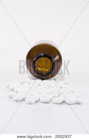 Bottle And White Pills