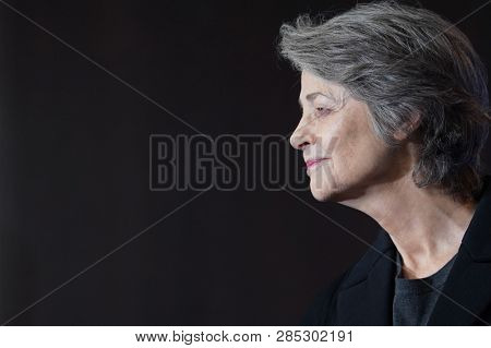 Charlotte Rampling attends the Hommage Charlotte Rampling photocall during the 69th Berlinale International Film Festival Berlin at Grand Hyatt Hotel on February 14, 2019 in Berlin, Germany