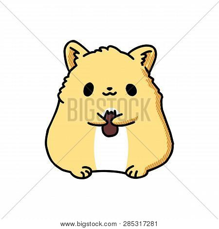 Rodent Hamster Icon. Cartoon Of Rodent Hamster Vector Icon For Web Design Isolated On White Backgrou