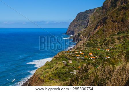 Village Boaventura in Madeira Portugal - travel background
