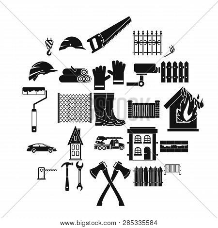 Palisade Icons Set. Simple Set Of 25 Palisade Vector Icons For Web Isolated On White Background
