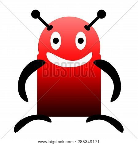 Friendly Smiling Robot Isolated On White Background