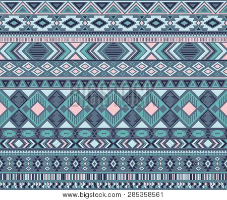 Navajo American Indian Pattern Tribal Ethnic Motifs Geometric Vector Background. Bohemian Native Ame