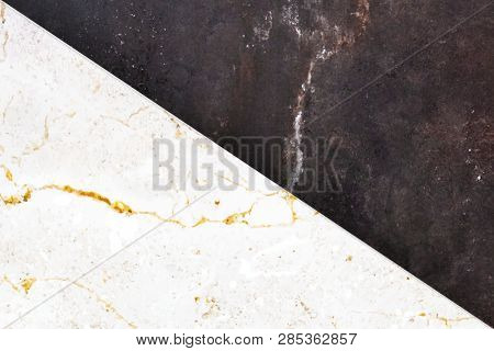 hite and black marble textured background