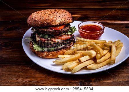 Fresh Homemade Burger Image & Photo (Free Trial) | Bigstock