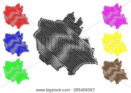 East Azerbaijan Province (provinces Of Iran, Islamic Republic Of Iran, Persia) Map Vector Illustrati