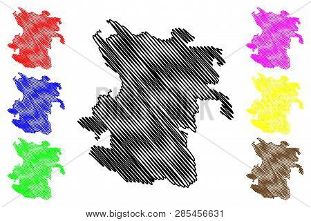 Hamadan Province (provinces Of Iran, Islamic Republic Of Iran, Persia) Map Vector Illustration, Scri