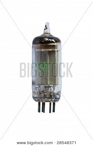 A triratron or vacuum tube, isolated on white background poster