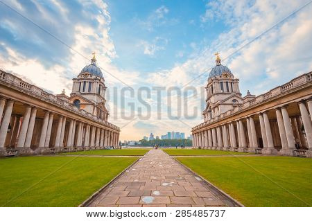 London, Uk - May 21 2018: The Old Royal Naval College Originally Constructed To Serve As The Royal H