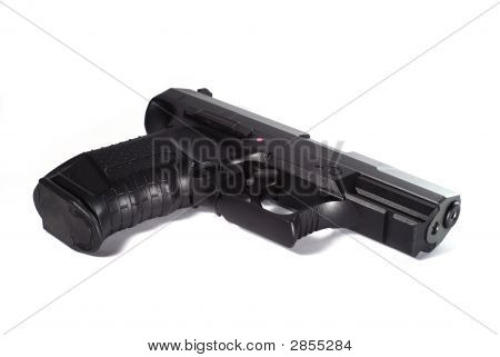 Black Gun On Whiye Background