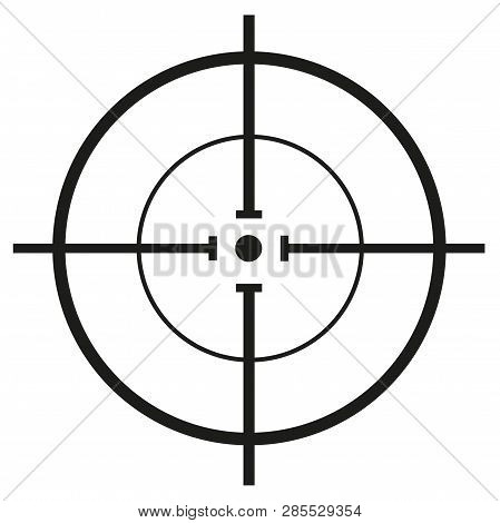 Crosshair, Reticle. Vector Crosshair With Vector Illustration Concept Image Icon