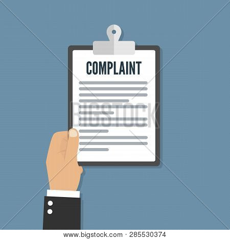 Complaint Concept Flat Icon Vector Illustration Concept Image Icon