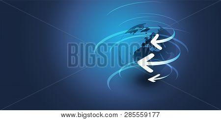 Earth Globe Design - Global Business, Technology, Globalization Concept, Vector Design Template