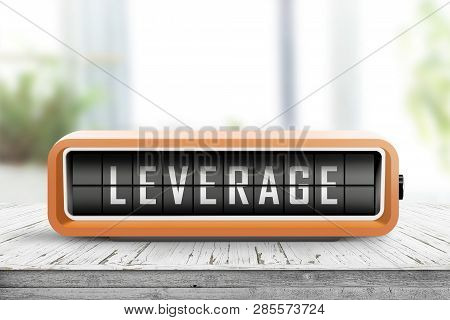 Leverage Message On An Analog Device In Orange Color In A Bright Living Room
