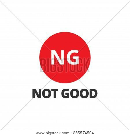 Ng Icon Design Template Vector Isolated Illustration