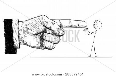 Cartoon Stick Figure Drawing Conceptual Illustration Of Frustrated Man Defending Yourself Or Resisti