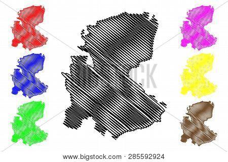 Markazi Province (provinces Of Iran, Islamic Republic Of Iran, Persia) Map Vector Illustration, Scri