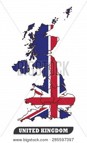 Map Of United Kingdom And Flag Of United Kingdom.map Of United Kingdom And Flag Of United Kingdom Us