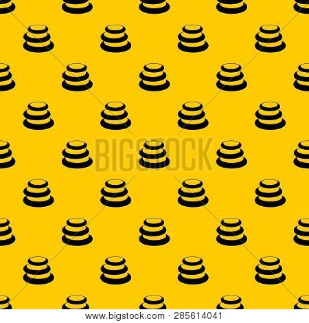 Stack Of Basalt Balancing Stones Pattern Seamless Vector Repeat Geometric Yellow For Any Design