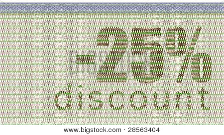 Discount Coupon -25%