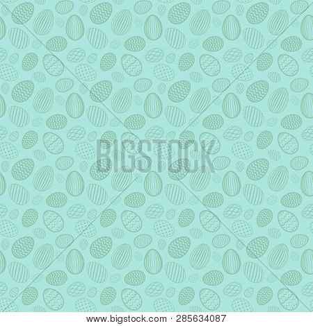 Easter Egg Seamless Pattern. Pastel Color, Holiday Eggs Texture. Simple Abstract Decorative Template
