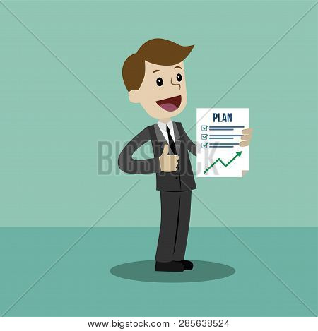 Businessman Or Manager Has A Plan. Job Is Finished Successfull