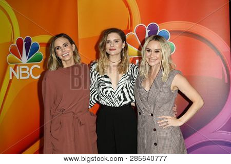 LOS ANGELES - FEB 20:  Keltie Knight, Jac Vanek, Becca Tobin at the NBC's Los Angeles Mid-Season Press Junket at the NBC Universal Lot on February 20, 2019 in Universal City, CA