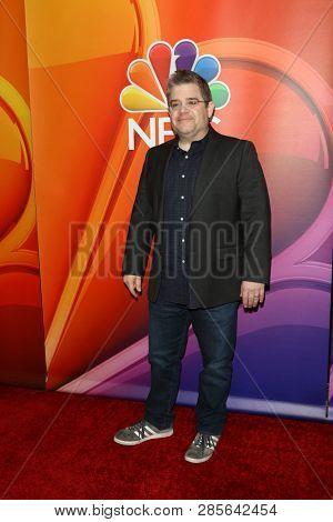LOS ANGELES - FEB 20:  Patton Oswalt at the NBC's Los Angeles Mid-Season Press Junket at the NBC Universal Lot on February 20, 2019 in Universal City, CA
