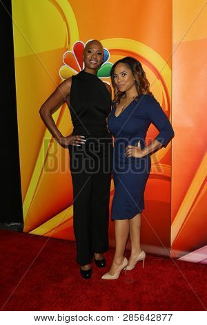 LOS ANGELES - FEB 20:  Dr. Imani Walker, Shanique Drummond at the NBC's Los Angeles Mid-Season Press Junket at the NBC Universal Lot on February 20, 2019 in Universal City, CA