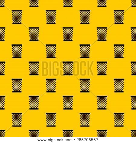 Wastepaper Basket Pattern Seamless Vector Repeat Geometric Yellow For Any Design