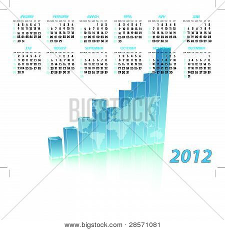 Calendar with chart for 2012