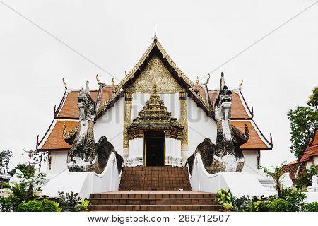 Phumin Temple, Nan, Thailand, July 9, 2017 :local Temple In Nan