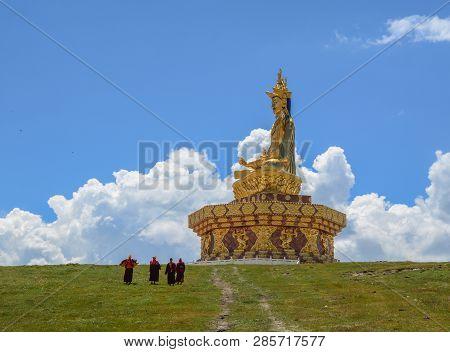 Big Buddha In Garze Tibetan, China