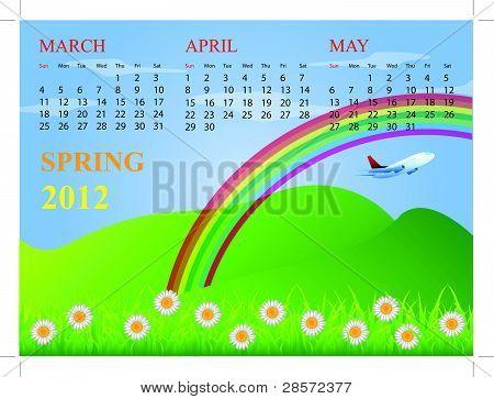 Calendar for spring 2012