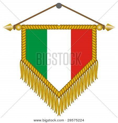 vector pennant with the flag of Italy