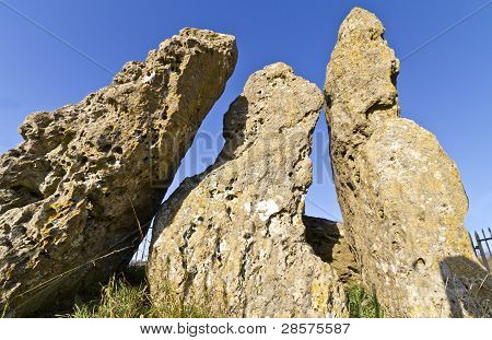The Whispering Knights Neolithic Dolman, Cotswolds, Uk