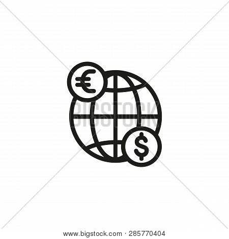 Global Trade Line Icon. Currency, Financial Market, Retail. Trading Concept. Can Be Used For Topics