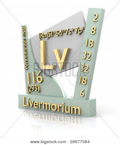 Livermorium Form Periodic Table Of Elements - V2