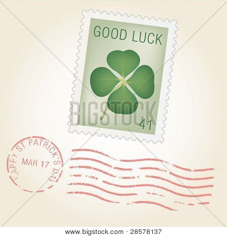 Saint Patty Stamp