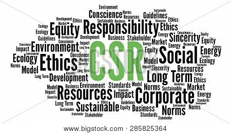Csr Corporate Social Responsibility Word Cloud Illustration