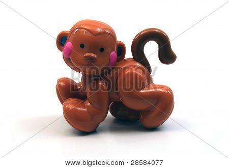 Isolated Toy Monkey