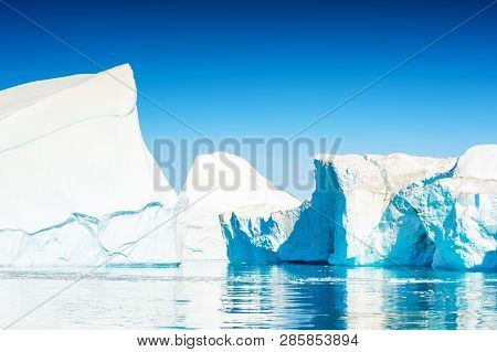 Big Iceberg In Ilulissat Icefjord, West Coast Of Greenland