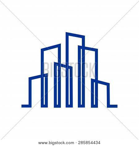 Logo Building, Building Vector Illustration, Building Image Vector, Building Icon For Business, Comp