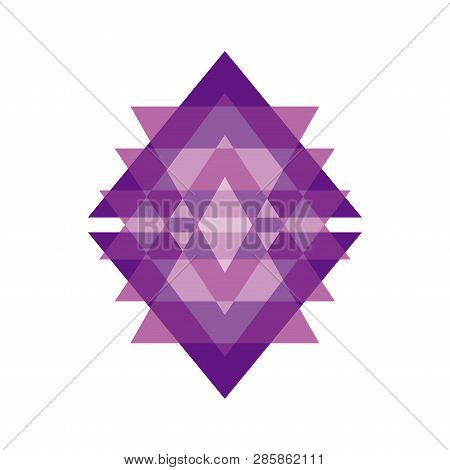 Triangle Shape Abstract Intersection Logo. Vector Logotype Template Isolated On White Background.