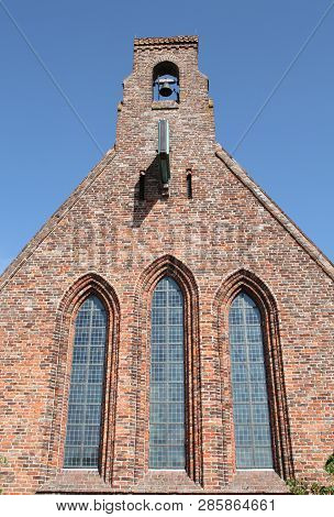 Abbey Church From The 12th Century In The Village  Aduard. The Netherlands