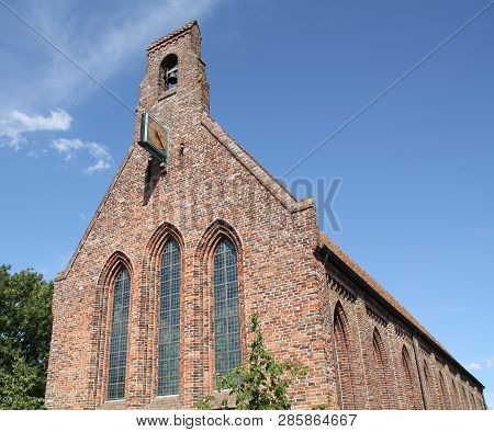 Abbey Church From The 12th Century In The Village Eduard.the Netherlands