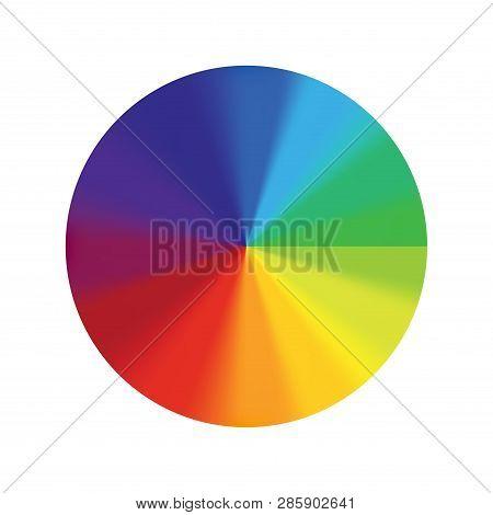 Color wheel vector spectrum. Colorful circle rainbow design. Creative saturation palette. Graphic illustration. poster